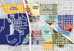 Downtown Tucson Neighbor Map