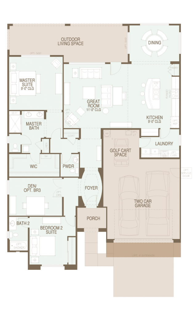 SaddleBrooke Ranch Strada Floor Plan
