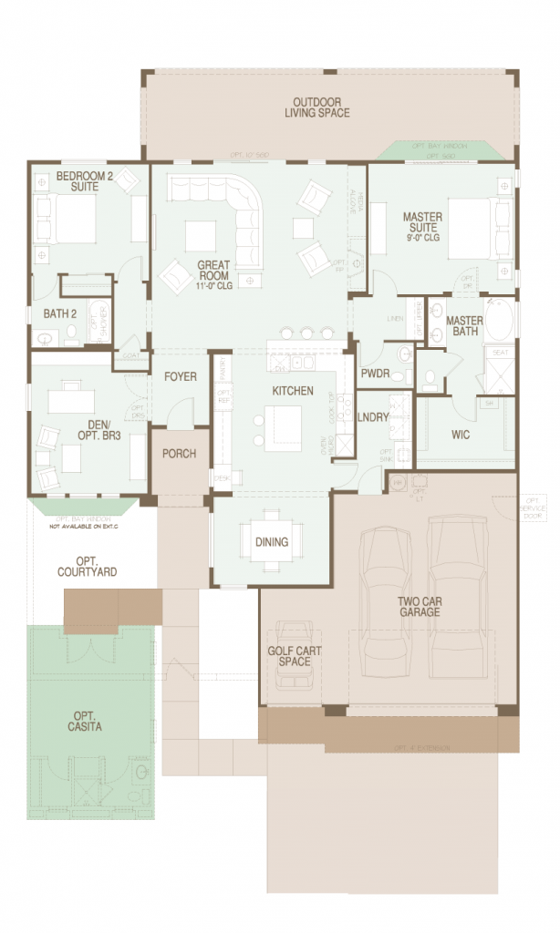 SaddleBrooke Covina Floor Plan