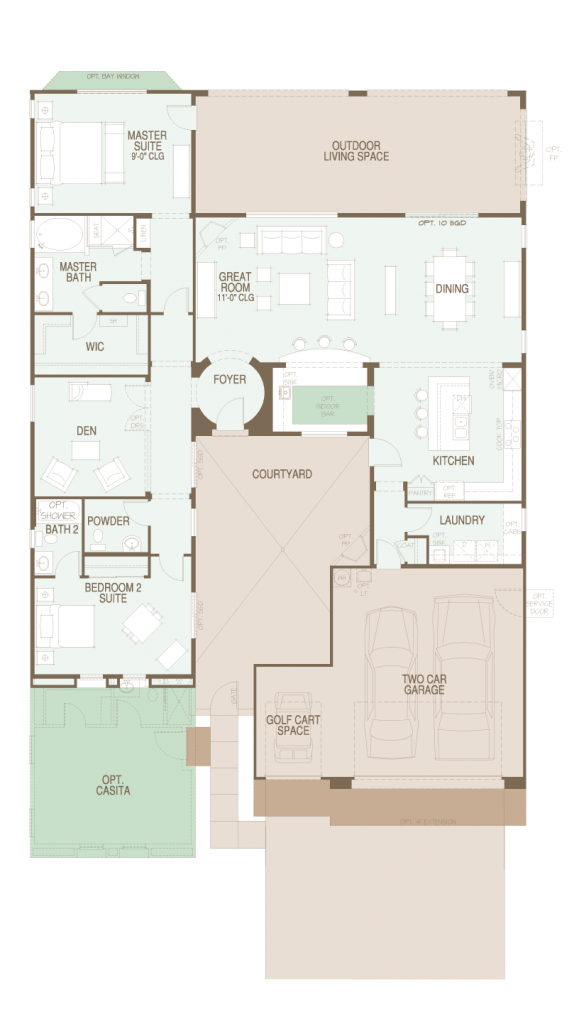 Saddlebrooke Ranch Mirasol floor plan