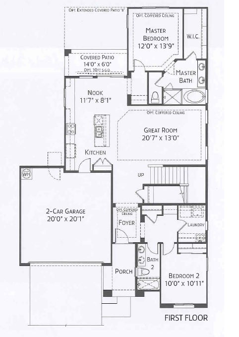 Center Pointe Vistoso Greenlee Floorplan 1st flr