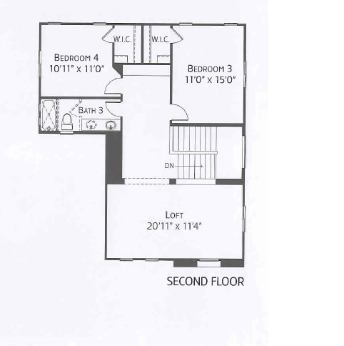 Center Pointe Vistoso Greenlee Floorplan 2n flr