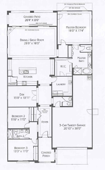 Center Pointe Vistoso Clifton floorplan